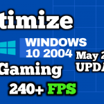 How to optimize Windows 10 Update For Gaming (2004) 2020