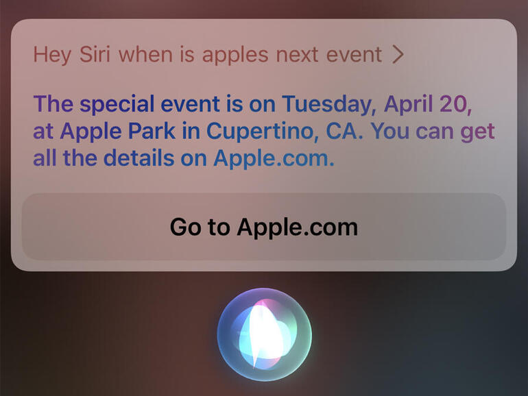 Siri accidently revealed Apple's next event date