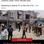 Indian Hindus are celebrating a blast in #JoharTown of Lahore, Pakistan